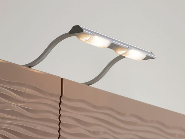 Twin Over Cabinet Light